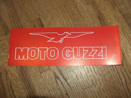 Moto Guzzi Brochures V50-3 and Monza nos '80s