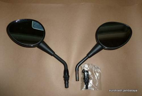 Moto Guzzi Mirror SET BLACK 1100 V11 Lemans Ballabio left/right