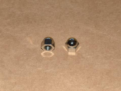 Triumph 650 Stainless Acorn Rocker Feed Nut Set 26 tpi