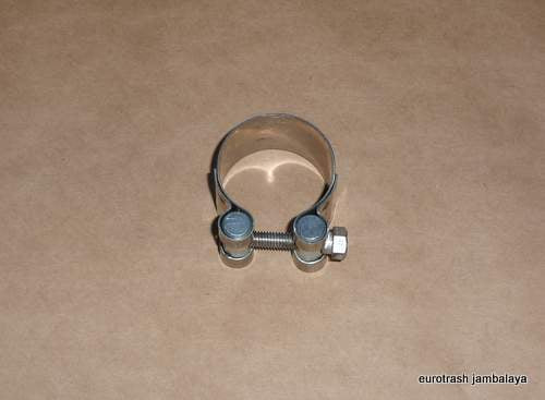 "Italy Exhaust Muffler Clamp 38mm/1 1/2"" STAINLESS"