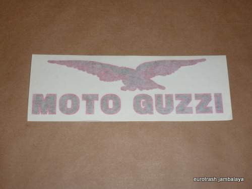 Moto Guzzi Decal California 3 Florida Nevada Gas Tank LG Red/Blk