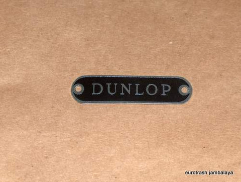 Dunlop Seat Badge Plate NEW Triumph BSA Norton Pre-Unit 500 650