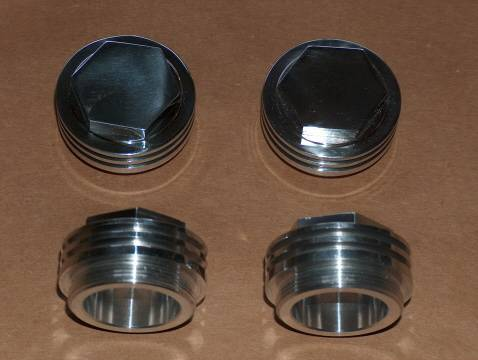 Triumph Pre-Unit Valve Cover Cap Set T120 webco jomo