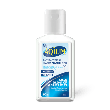 Ego Aqium Anti-Bacterial Hand Sanitiser Gel, 60mL