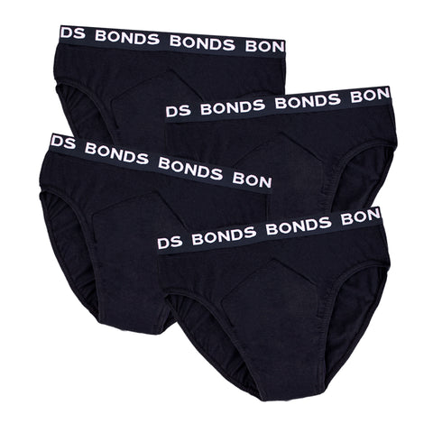 Men's BONDS Hipster with incontinence pad (4 pack)