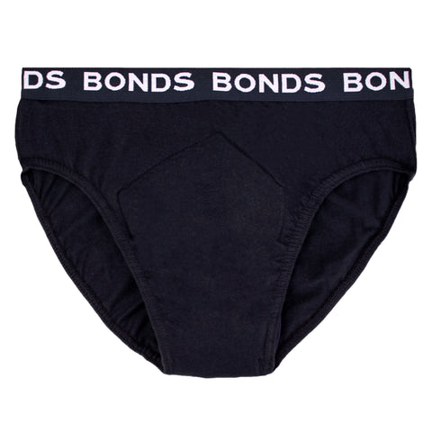 Men's BONDS Hipster with incontinence pad (Single)