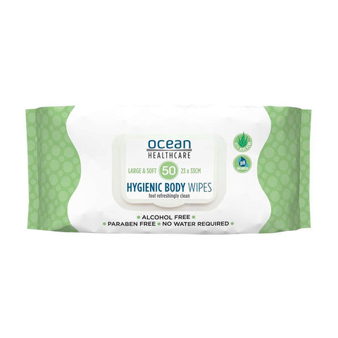 Ocean Healthcare Hygienic Body Wipes, 50 pack