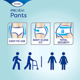 TENA Pants PLUS (6 Droplet) PROSKIN Disposable Incontinence Pull-On Underwear, PACKET