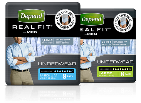 Depend Real Fit Underwear for Men (8 per pack)