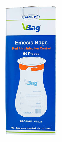 Emesis Bags Red Ring Infection Control | 50 per packet