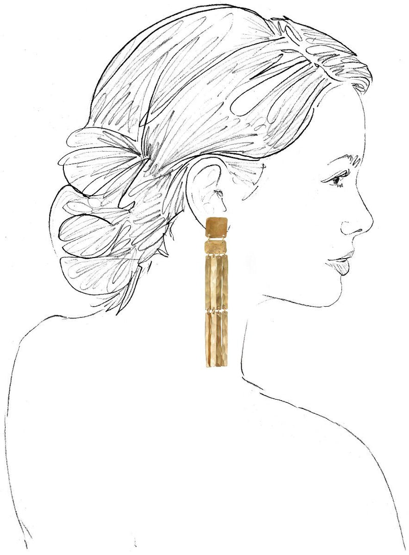 Brass Padme Earrings