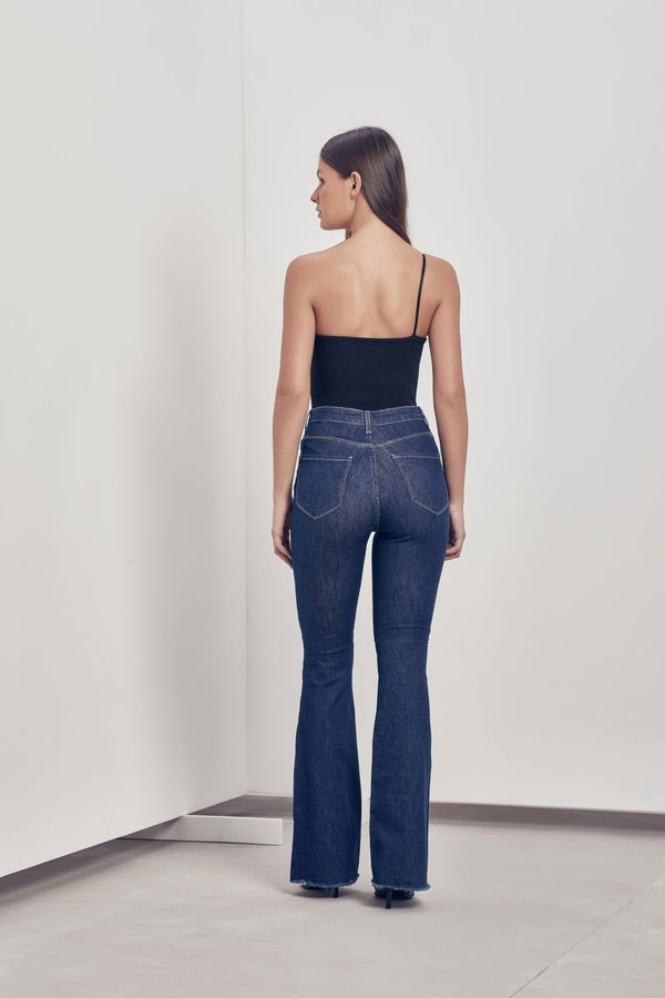 Andrea Flare Jeans - Dark Blue