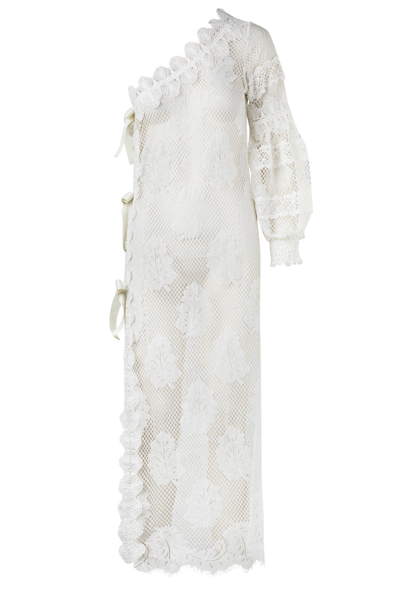 La Croisette Lace Dress - White