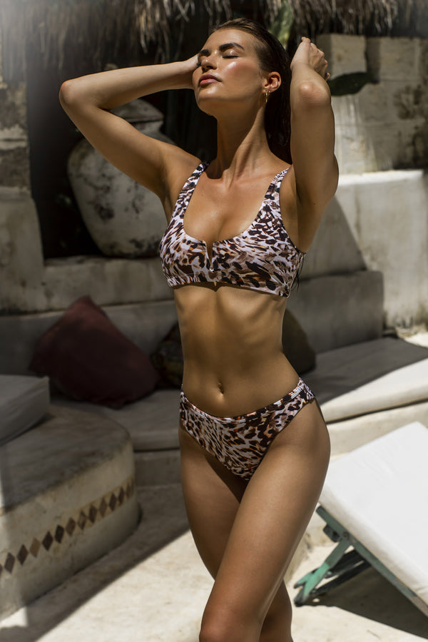 Farrah Bikini Top - Animal