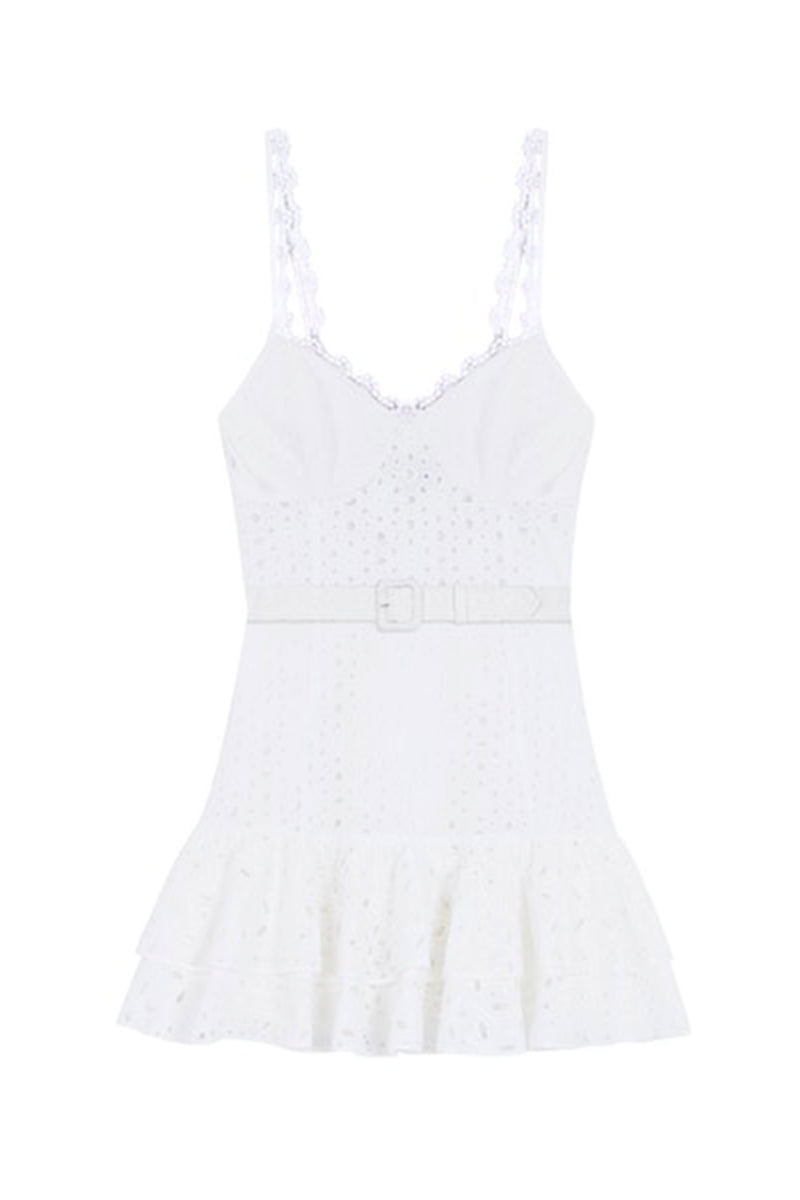 Marianne Short Dress - White
