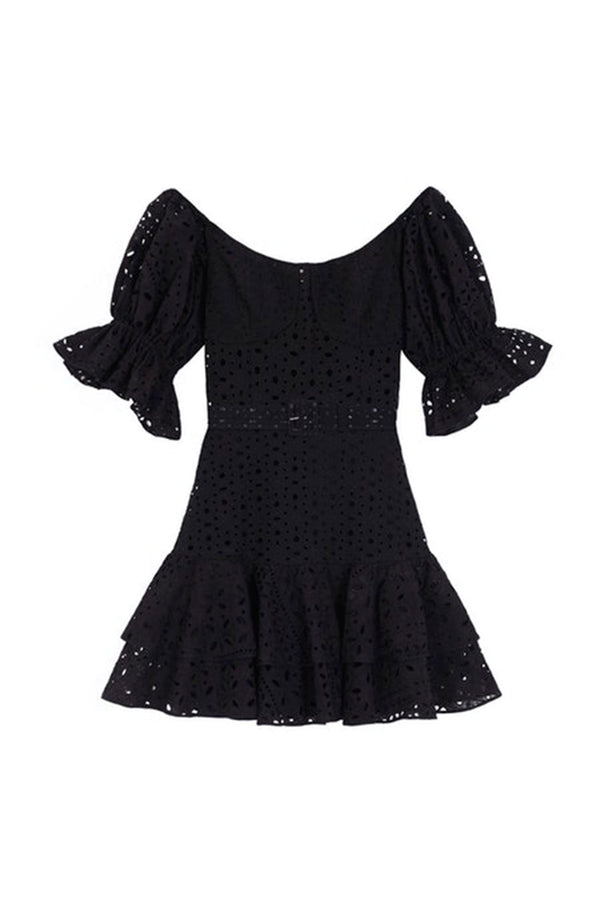 Jean Short Dress - Black