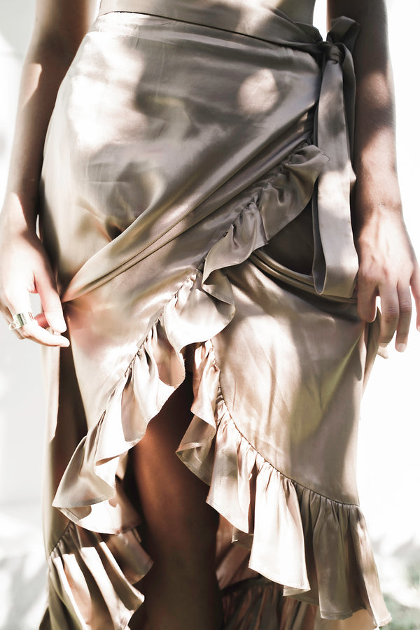 Cedros Skirt Satin - Beige
