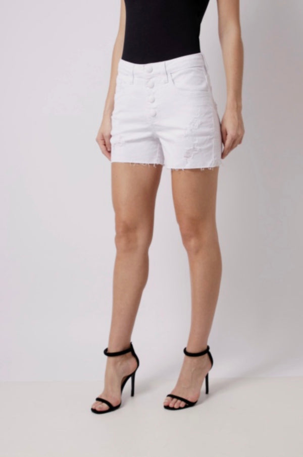 Andrea Denim Shorts - White