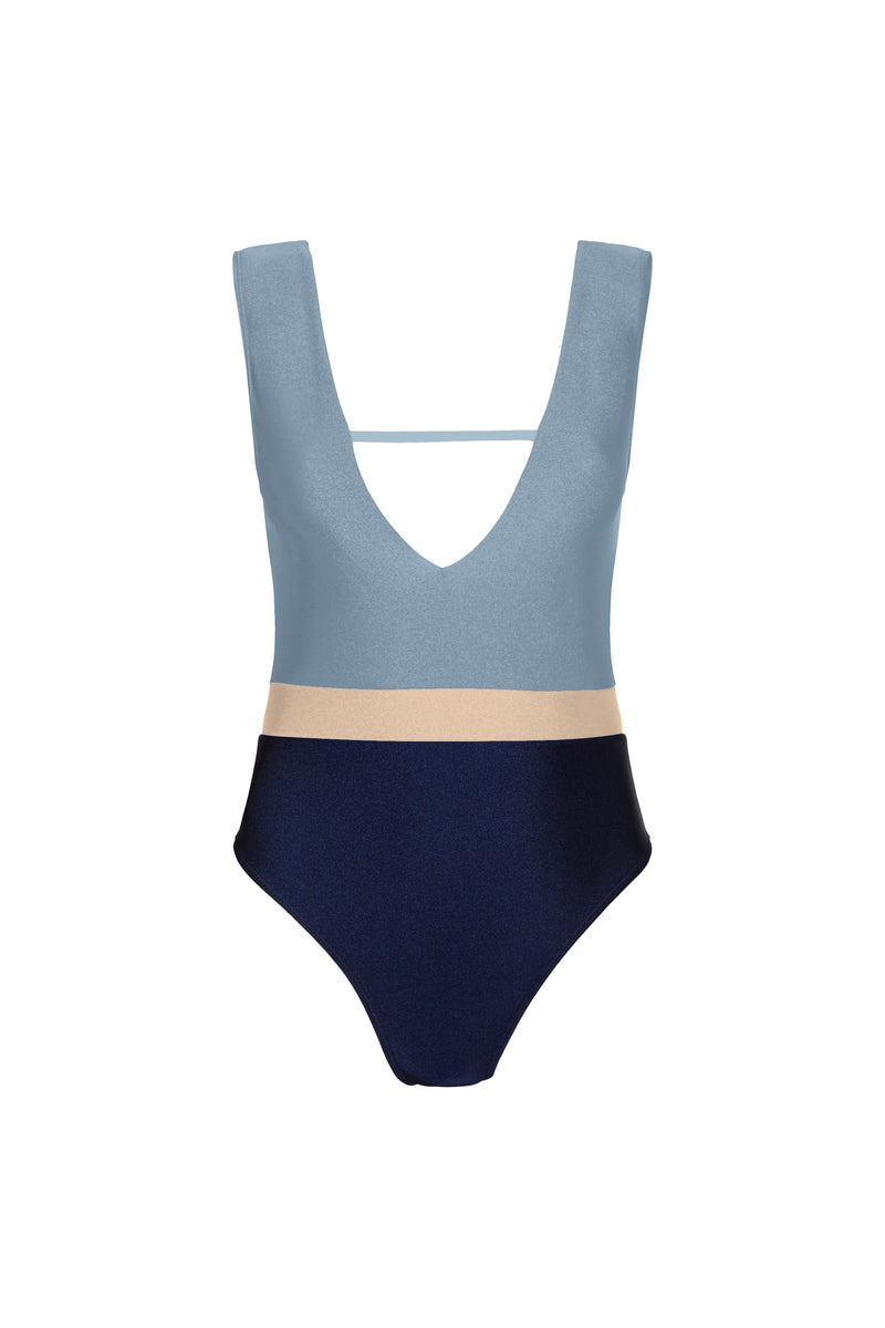 Jerry One Piece - Sky/Sand/Deep Blue