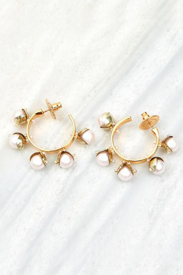 Mini Delfina Hoops - Blush