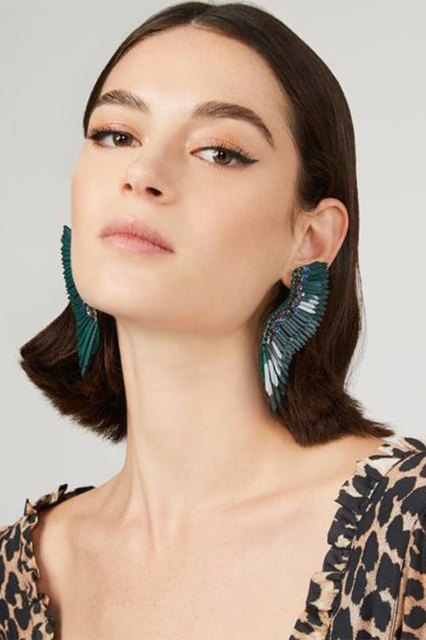 Mega Madeline Earrings - Blue/Green