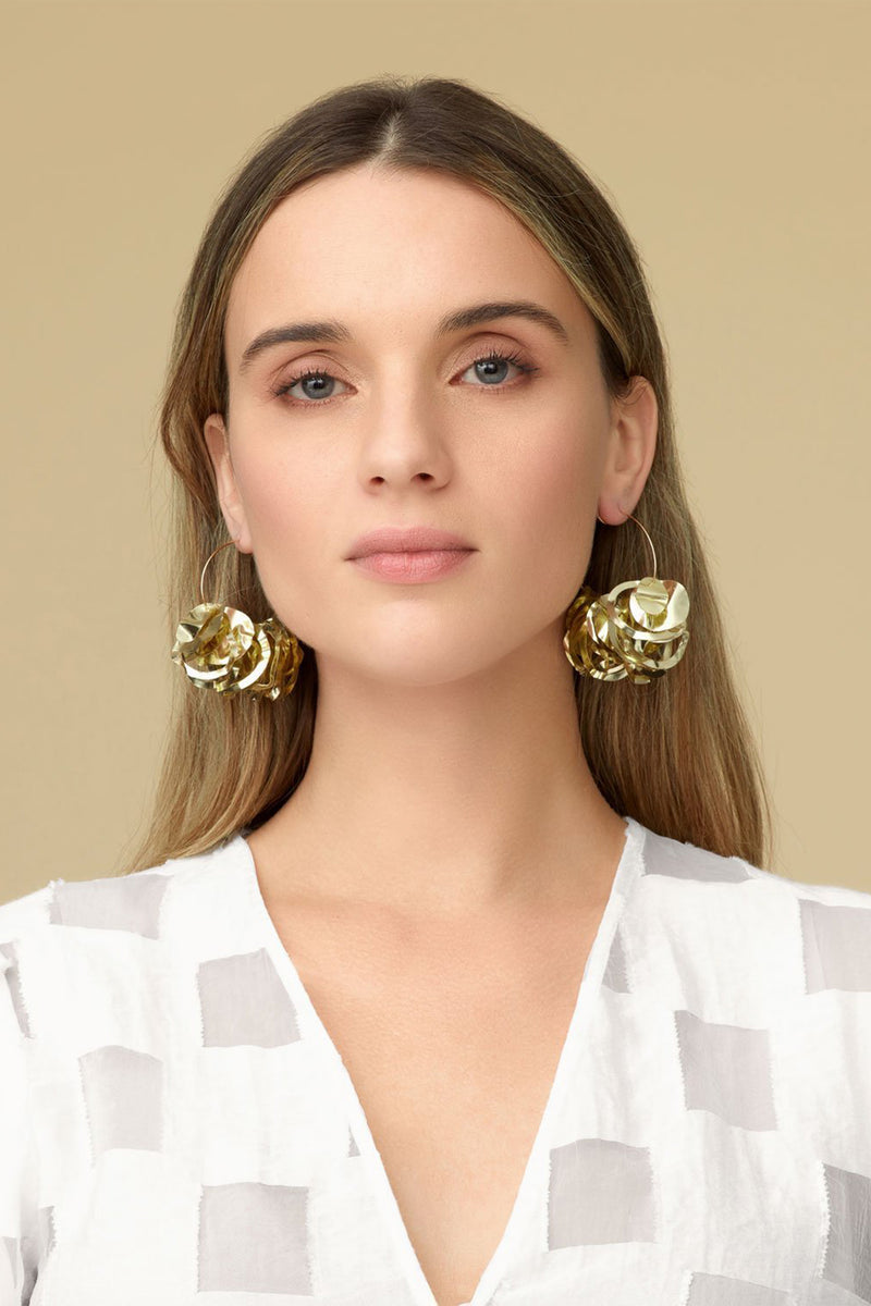 Mini Lola Hoop Earrings - Gold