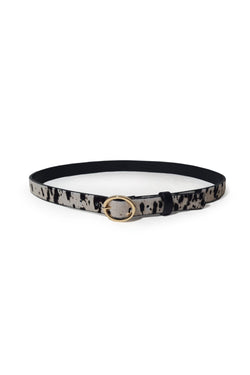 Leather Belt - Cow Print
