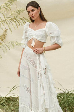 Sevillana Skirt - White