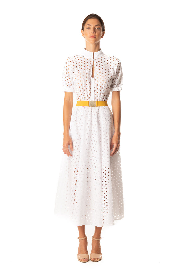 Sangallo Dress - White