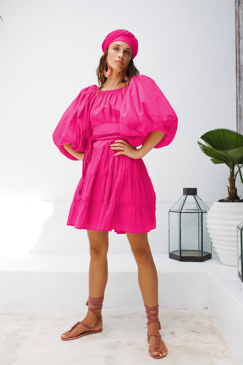 Brielle Short Dress - Fuchsia