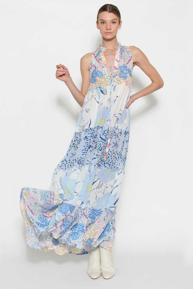 Blue Heather Dress - Paisley