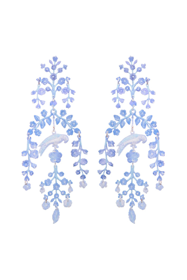 Chinoiserie Earrings - Blue