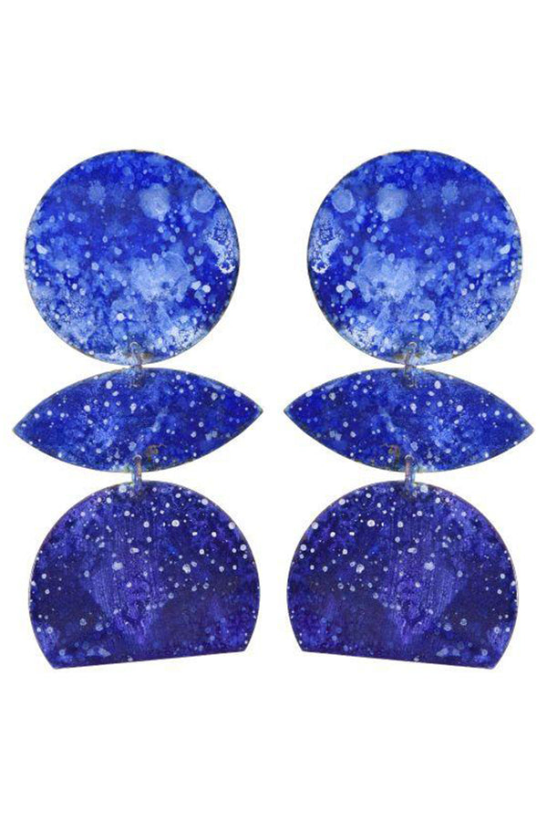 Anjea Earrings - Navy