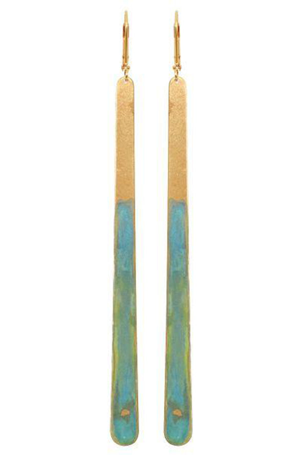 Azzura Earrings - Gold/Teal