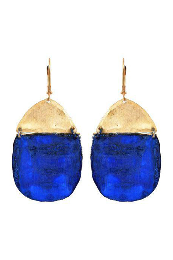 Inika Earrings - Navy