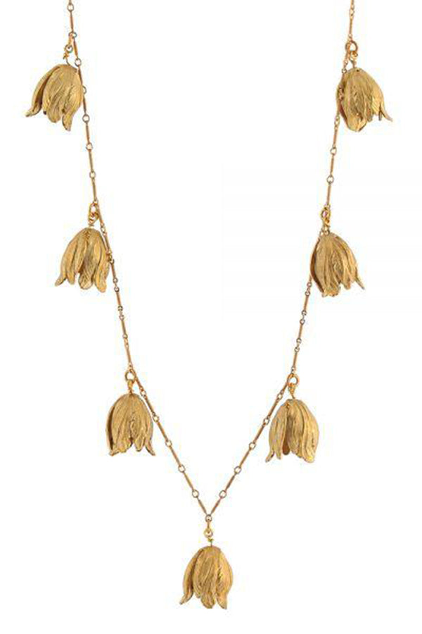 Tulip Necklace - Golden