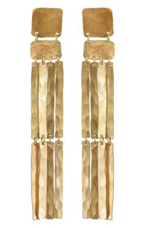 Padme Earrings - Golden Brass
