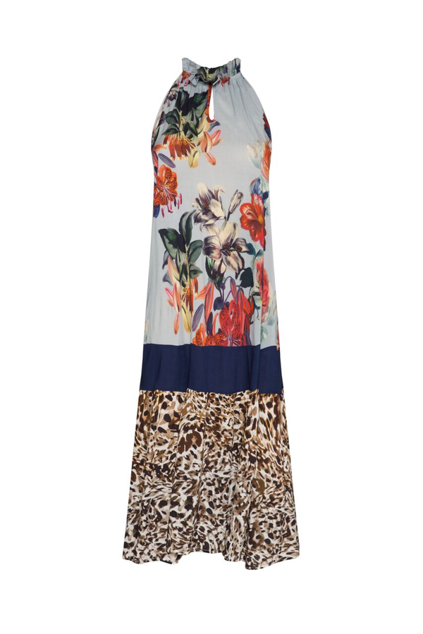 Nevis Dress - Floral/Deep Blue/Animal