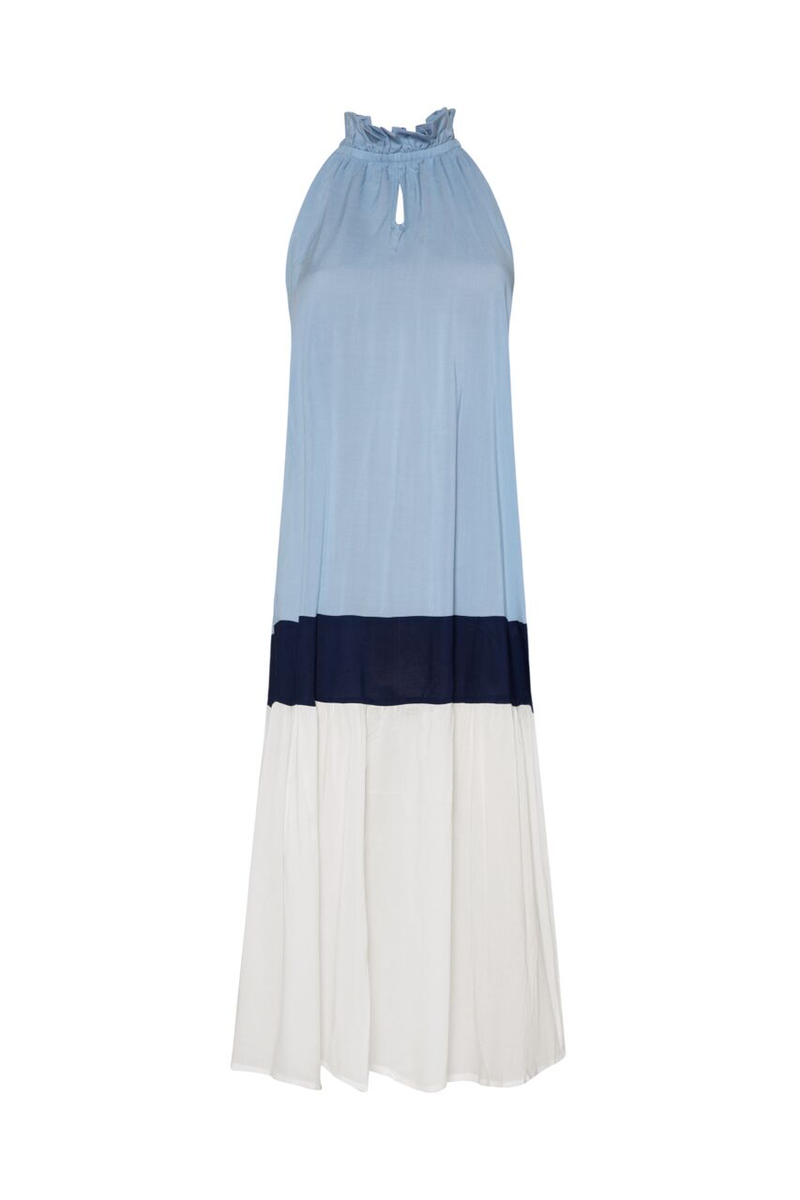 Nevis Dress - Sky/DeepBlue/White