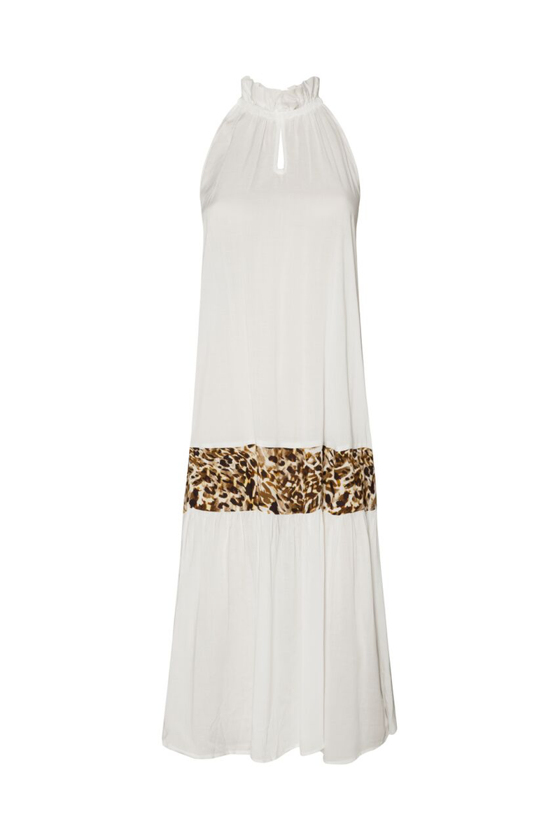 Nevis Dress - White/Animal