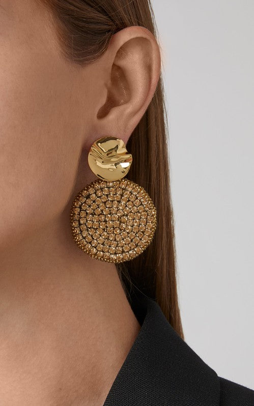 Kaya Round Earrings - Gold