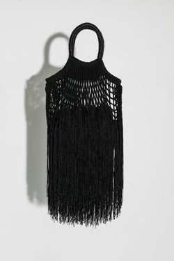 Black Mini Fringe Bag