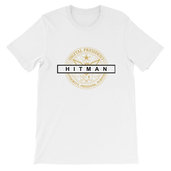 White Hitman Digital President short-sleeve unisex t-shirt