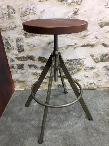Carrera stool,metal stool base, bar stools, cafe bar stool, outdoor bar stools, grey metal stools,