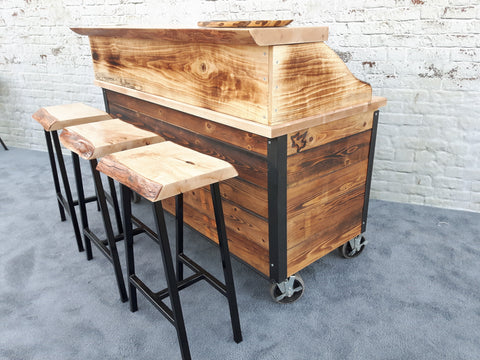 bar, mobile bar, outdoor entertaining, party bar, trade show mobile bar, hand crafted mobile bar, outdoor bar,