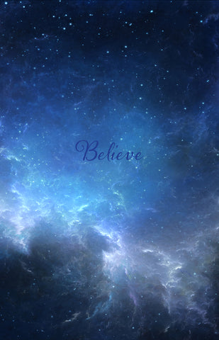 Believe, starry night, christmas, sky mural, Xmas, faith mural, night sky, stars, christain mural, words, word mural, word wallpaper,