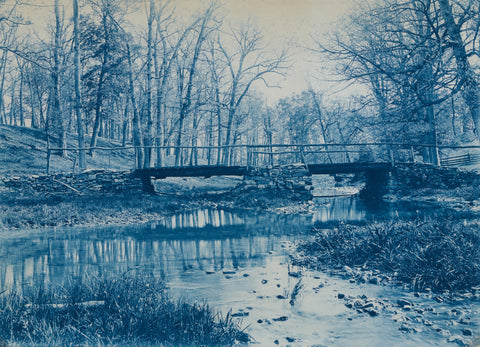 blue bridge, blue landscape, retro image, vintage image, ago images, drawing mural, old photo image,