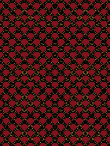 Como, red, black, shell design, modern wallpaper, rich design, arches, pattern, mew wallpaper,