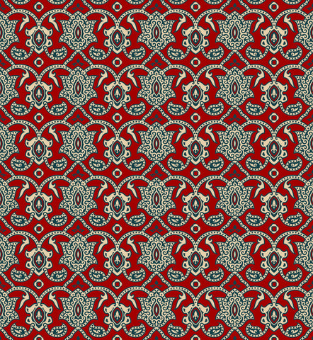 damask pattern, red wallpaper, tradition design, traditional block printing, blue, armenian design,