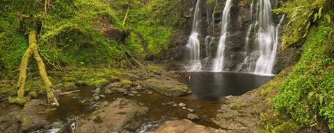 waterfall, ireland, Ess-Na-Crib, remote landscape, woodland, forest, water, large mural, Thrones,